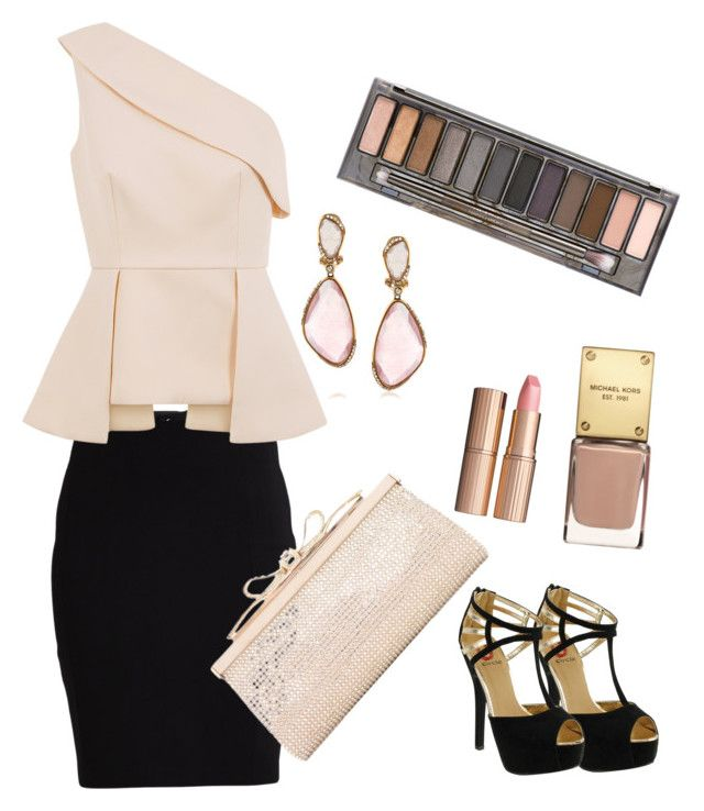 soft by nadinealmshhdany on Polyvore featuring polyvore moda style C/MEO COLLECTIVE VILA Red Circle Judith Leiber Mark Broumand Urban Decay Charlotte Tilbury