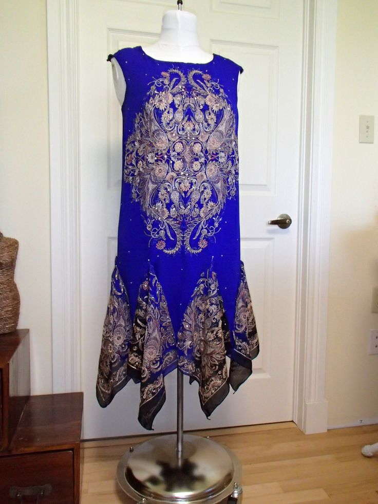 Dress created from 2 metre sari scarf. I used the border as godet inserts.