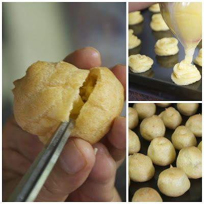 Kue Sus Isi Vla atau Ragout Ayam ( Sweet or Savoury Profiteroles)