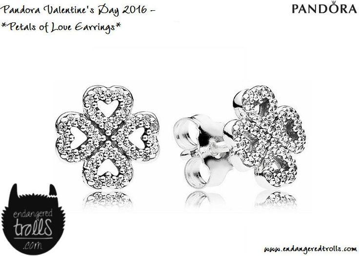 Pandora Petals of Love Earrings