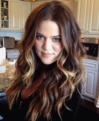 Khloe Kardashian Curls Ombr 233 Great Women Great Hair