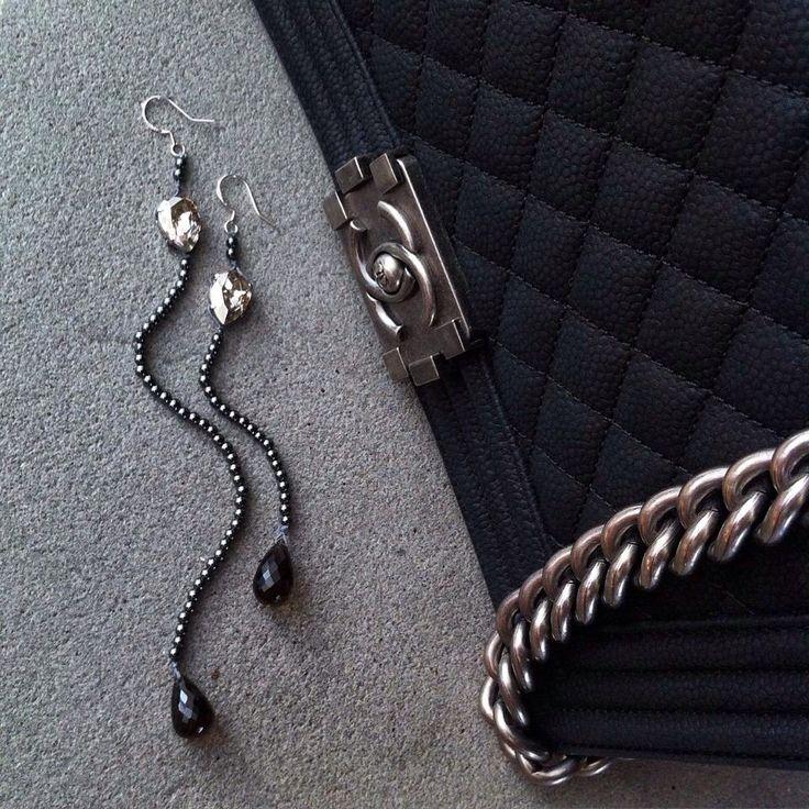 Earrings smoky Quartz http://instagram.com/marinaangelakijewelry