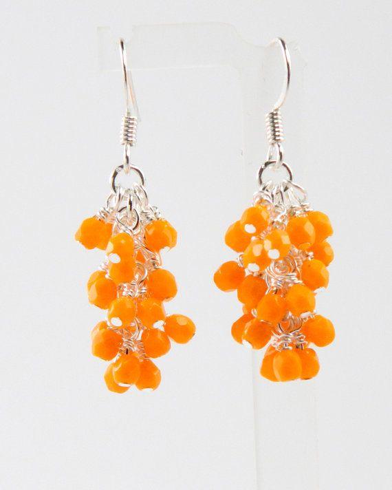 Orange Dangle Earrings by MaryMorrisJewelry on Etsy, $17.00 #summer jewelry  #summer earrings  #orange jewelry