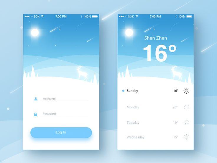 Weather Login App by ruki
