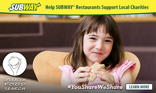 Eat at SUBWAY and help support local charities! #YouShareWeShare #ad