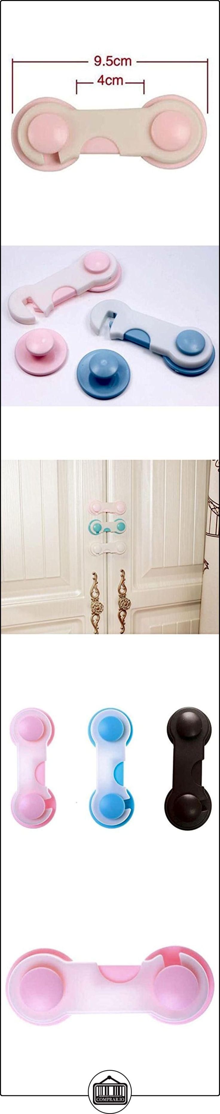 Highdas Gabinete Cajón Refrigerador Frigorífico Armario Adhesivo Cerraduras Seguras Bebé Prueba Clip Pestillos Rosa 3 Packs  ✿ Seguridad para tu bebé - (Protege a tus hijos) ✿ ▬► Ver oferta: http://comprar.io/goto/B01N4M2DIM