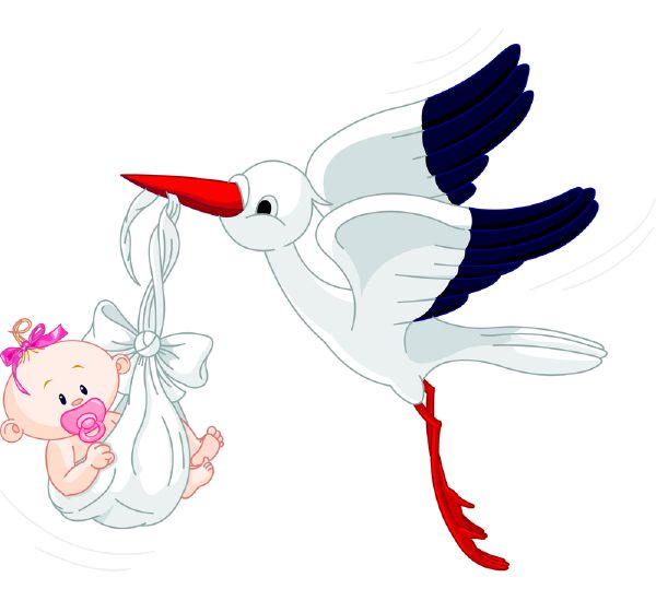 congrats on Your new Arrival  (Stork Carrying a Baby)