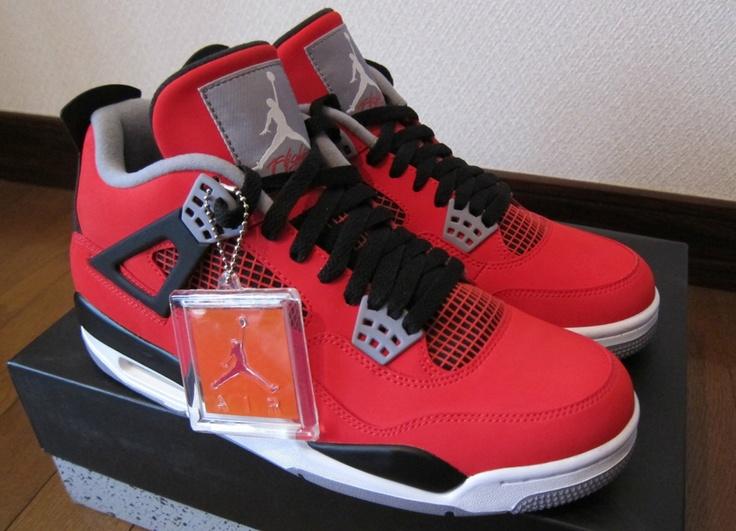 Air Jordan IV Fire Red Nubuck Sample on eBay