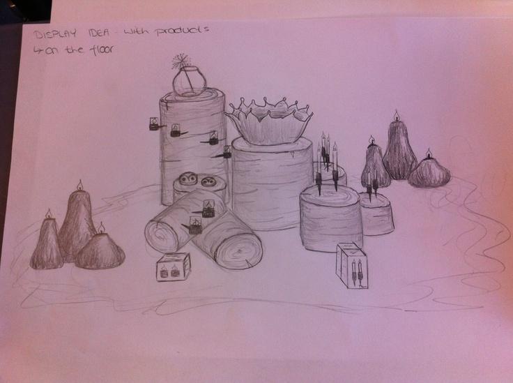 Display idea, Sketch - by Helena W. Pedersen