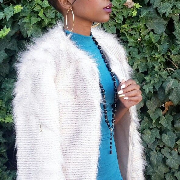 The faux fur ensemble.