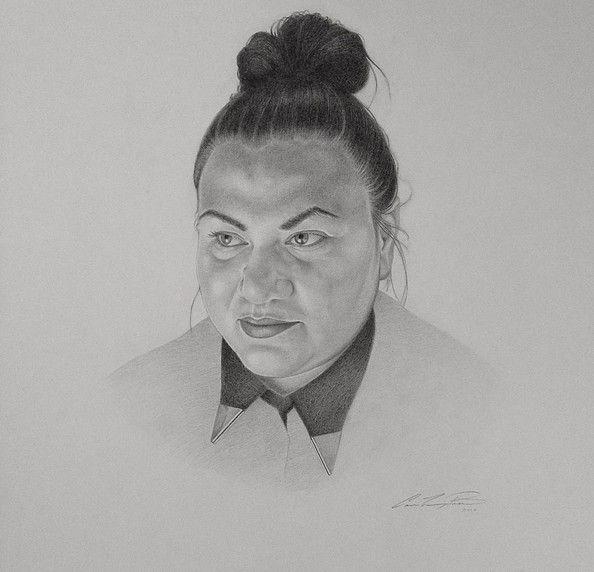 Carolin Prinn, Portrait of Laura Walker, graphite on arches aquarelle, 2015. Visual artist & painter based in Berlin.