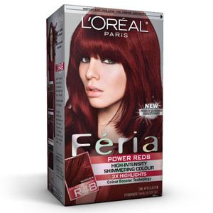 LOREAL, Feria- Power Reds R48 Intense Deep Auburn / Red Velvet. My favorite color!!!