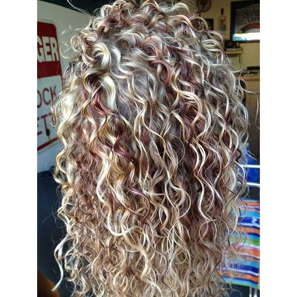 27 New Curly Perms for Hair ❤ liked on Polyvore featuring beauty products, haircare, hair styling tools and curly hair care