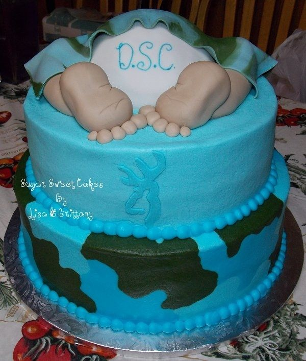 Camo baby shower cake (boy)