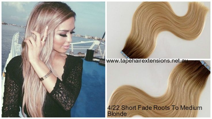 """Tape - 2/22  - Short Fade Out - 22"""" -Medium Bronw To Light Blonde 40 Pieces- 100 grams -Full Head 100% Pure Virgin Remy Human Hair Extensions. The world's longest lasting Highest quality hair extensions."""