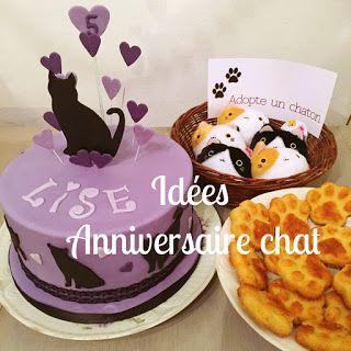 Tout plein d'idées pour un anniversaire chat chaton mignon ! #anniversaire #birthday #chat #cat #gateauchat #cake
