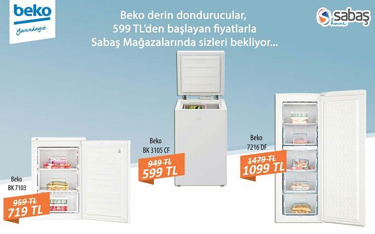 Beko derin dondurucular, 599TL'den başlayan fiyatlarla Sabaş Mağazalarında sizleri bekliyor... Detaylı bilgi için: 02425141313 02425191666 www.sabashome.com