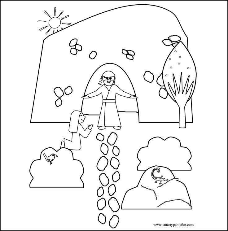 Easter Resurrection Bible Coloring sheet Smarty Pants