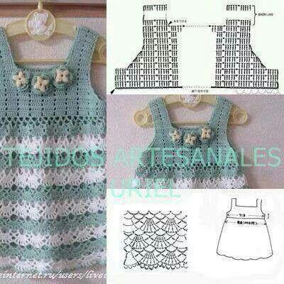 Dress kids crochet pattern