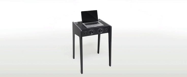 La Boite Concept DL120, primer sistema integrado de altavoces de alta fidelidad y base para ordenadores portátiles