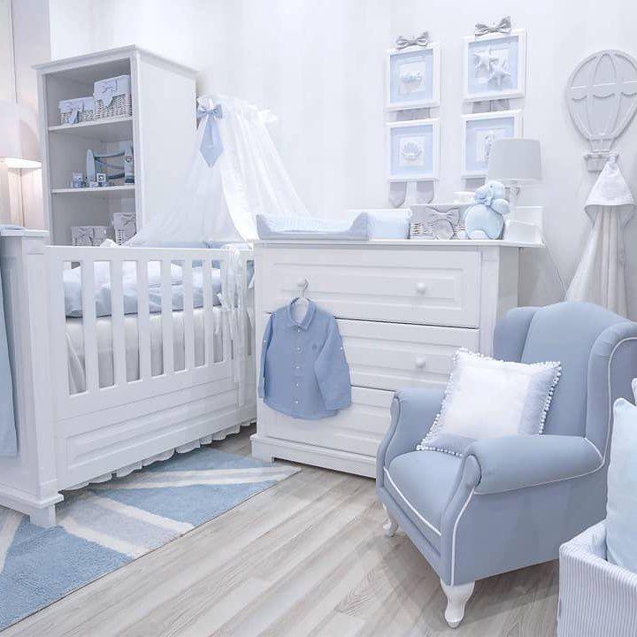 Um Mundo Em Azul E Branco Para O Quarto Do Bebe Imagem Pinterest
