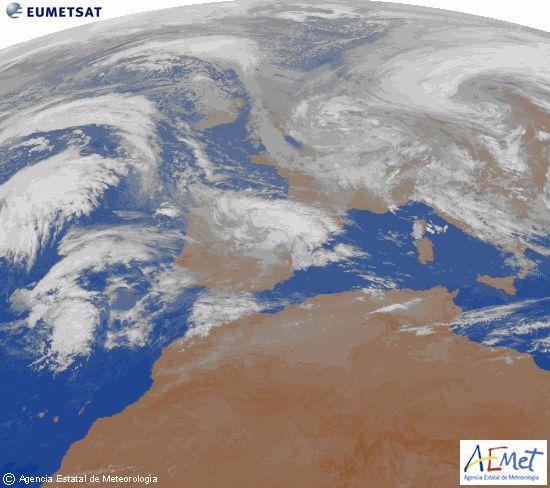 El tiempo del martes: Lluvia en toda la peninsula al principio del día. Cota de nieve subiendo. Ascenso de las temperaturas. - lasteles.com