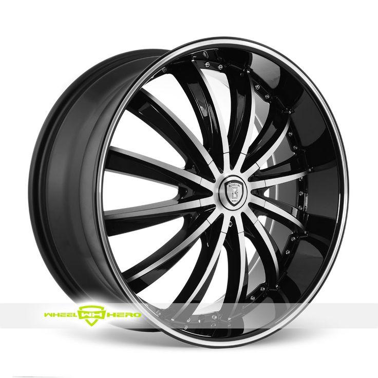 Borghini B19 Machined Black Wheels For Sale - For more info: http://www.wheelhero.com/customwheels/Borghini/B19-Machined-Black