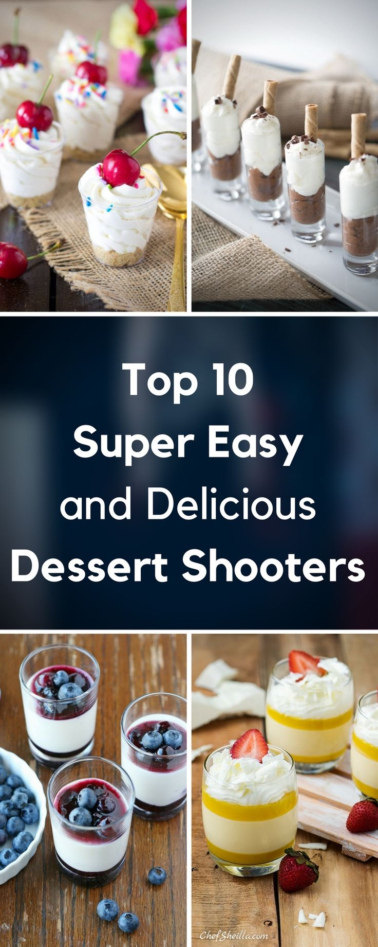 In this article we are showing you ten dessert shooters, which are very good choice not only because they're delicious, but also perfect for parties because they don't make a mess. They're really easy to prepare, they doesn't require more than one hour and it can be really budget - friendly with just three ingredients that you need!