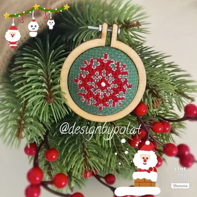 Mutlu akşamlar 🎄🎅☃️🎁 #designbypolat #crossstitch #crossstitchland #photooftheday #hoopart #christmas #handmade #yeniyil #puntodecruz #kreuzstich #pointdecroix #needlework #embroideryhoopart #puntocroce #kanaviçe #etamin #etaminişi #jewelry #takitasarim #accessories #brooch #bros #winter #snow