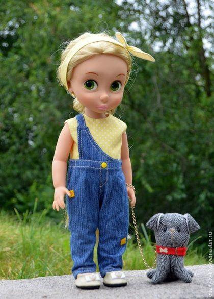 Купить Джинсовый комбинезон для куклы для куклы Дисней/Disney. - кукла дисней, одежда для кукол, disney, дисней