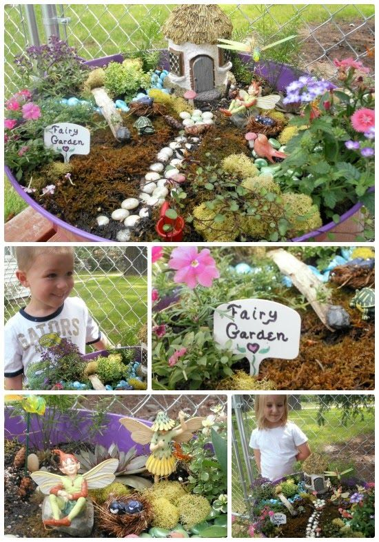 Kids Fairy Gardens gather supplies so the neighbourhood kids can make one (or some)