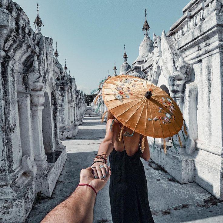 "Gefällt 132.4 Tsd. Mal, 285 Kommentare - Murad Osmann (@muradosmann) auf Instagram: ""#followmeto Kuthodaw Pagoda, Myanmar with @natalyosmann. This temple is the biggest book in the…"""