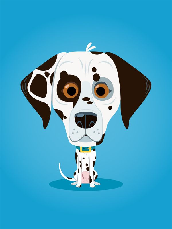 #richwake #newdivision #illustration #cartoon #flatgraphic #character #dog #dalmation