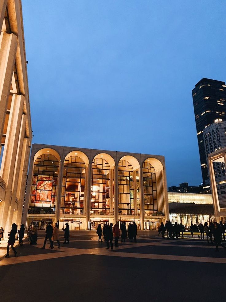 Lincoln Center New York Were My School Was Nyc New York City Usa United States America Travel Destinations Honeymoon Back In 2019 New York Travel New York City Nyc Life