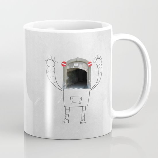 Mr.Robot in Italy Mug    #lostnfoundstudio #illustration #robotlover #photography #drawing #streetart #italy #travel #vector #imagination #robot #mug #cup #mugdesign #designersmug #torontoartist #cupdesign #giftidea