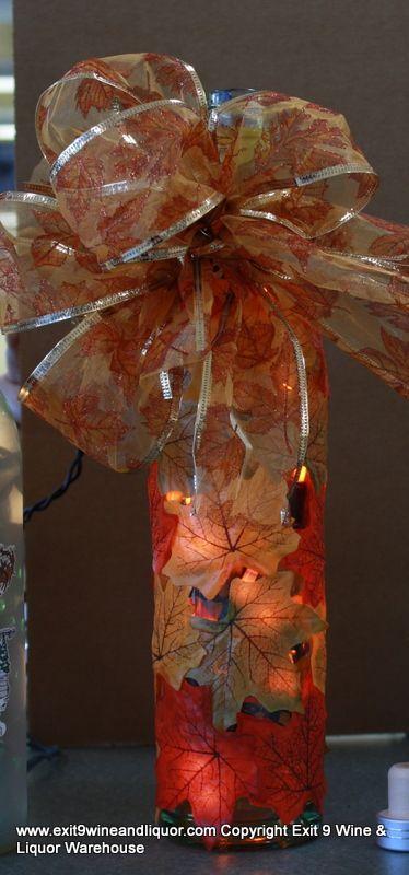 Fall wine bottle wine bottle decorating class bottle beautiful!