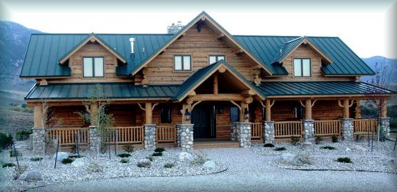 Log Home Pictures Custom Built Log Homes In Cody