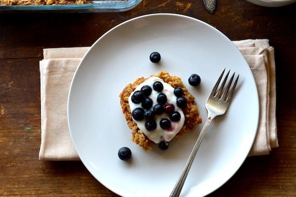 Banana Maple Baked Oatmeal. Vegan, Gluten Free, healthy breakfast. www ...
