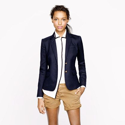 "J.Crew - Schoolboy blazer in navy - Another ""want"" became a ""got"" thanks to a sale :)"