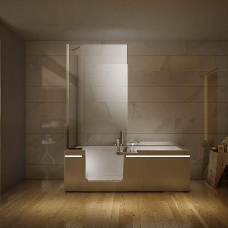 Badekar med dusj i ett Prêt á Porter. Made in Italy by Teuco