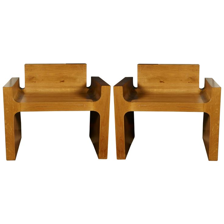 Pair of Solid Oak Chair | From a unique collection of antique and modern chairs at http://www.1stdibs.com/furniture/seating/chairs/