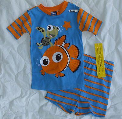 NEW Sz 3 3T Disney Pixar Finding Nemo Pajamas Shirt Shorts Boys
