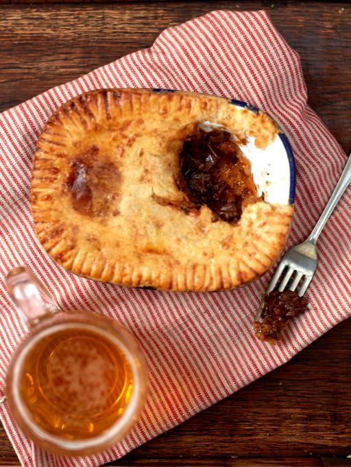Jamie Oliver's Aussie humble pie recipe. Use an enamel pie dish for the perfect pie