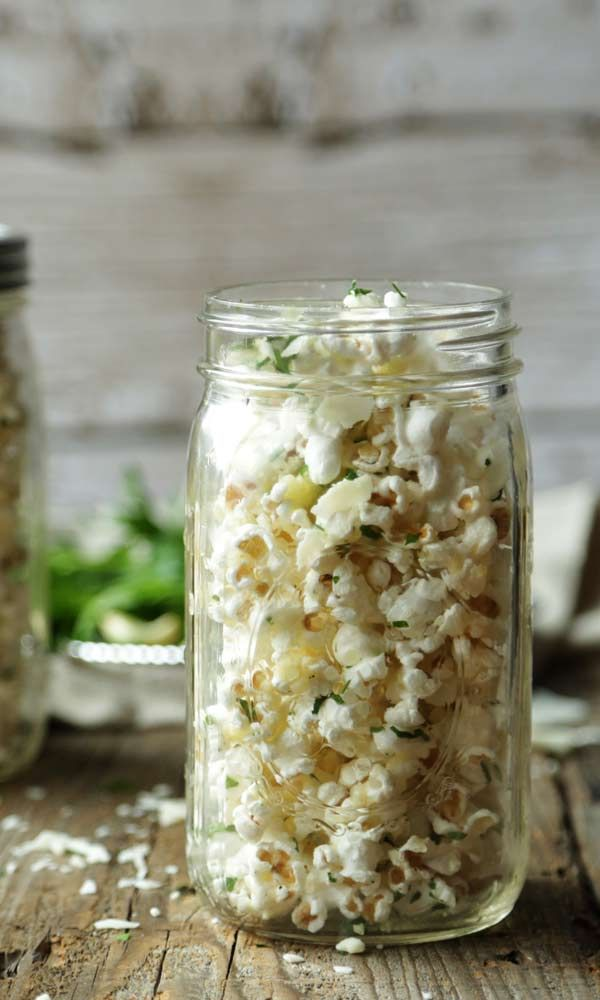 Garlic and Parmesan Homemade Popcorn Recipe @bobsredmill