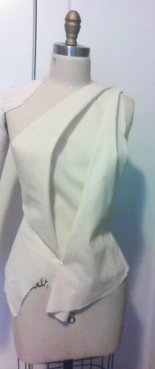 bias drape sample