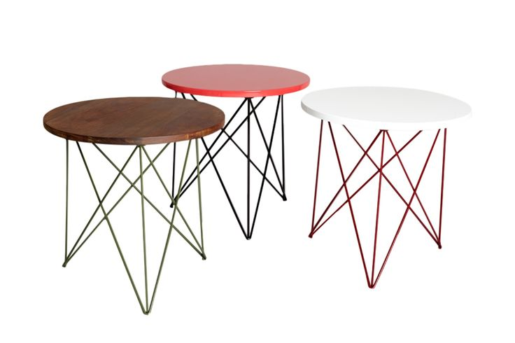 Helms Outdoor Side Table  Contemporary, MidCentury  Modern, Lacquer, Metal, Wood, End Table by Heather Ashton Design