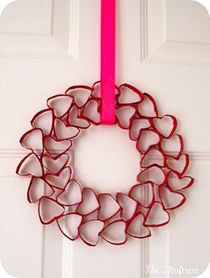 Toilet Roll heart wreath