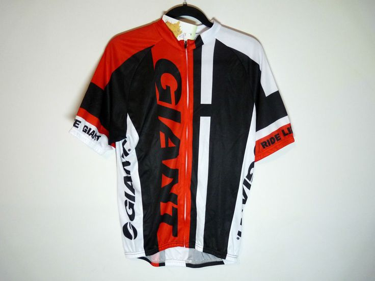 Giant unbranded red black cycling jersey maillot cycliste - NWT - XL