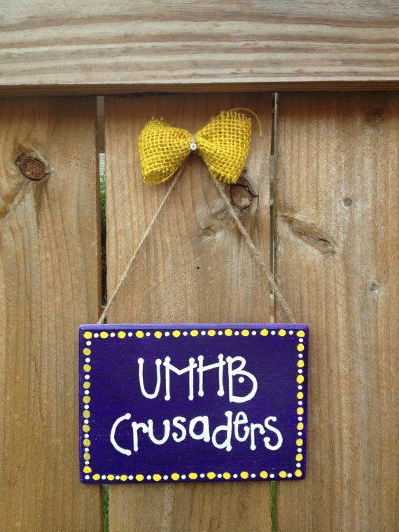 UMHB Crusaders - Hand Painted SIgn Mary Hardin Baylor
