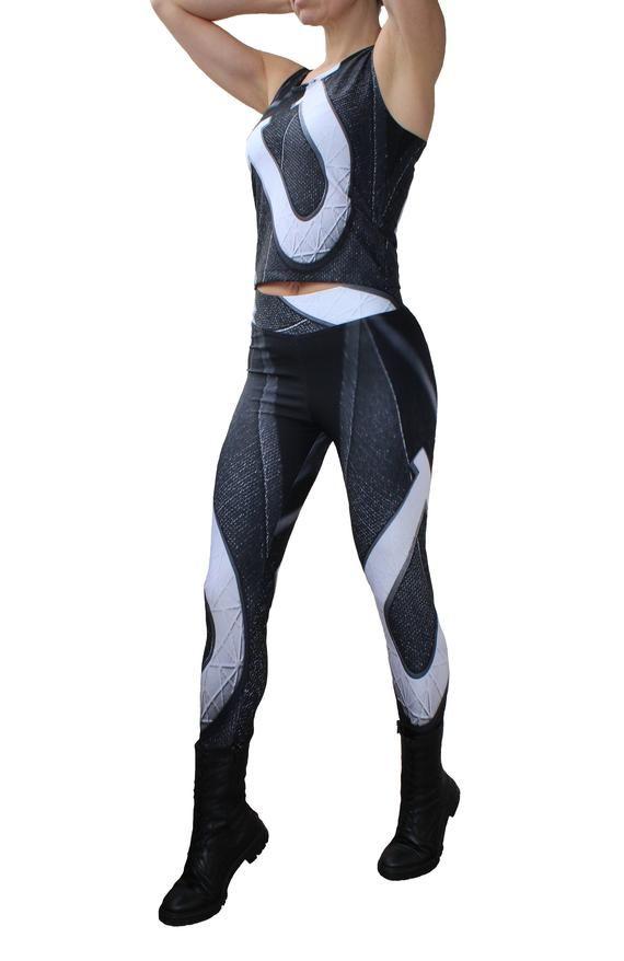 0286fcf3d Printed leggings/ Crop Top/ Ladies gym wear /3D Leggings/ Gym/ Women  Trousers/ Sports Tights/Yoga Pants/Jogging